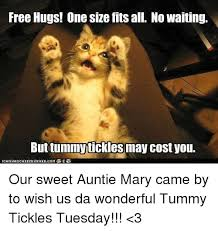 Tickled Memes - free hugs one size fits all no waiting buttummytickles may cost you