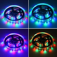 rgb led strip lighting hml 5m 24w rgb 2835 smd 300 led strip lights with ir 24 keys