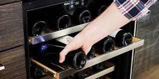 built in wine fridge modern u2014 rs floral design different built