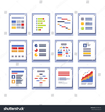 set elements infographic design diagrams charts stock vector