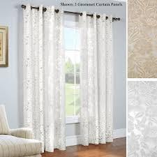 Sheer Grommet Curtains Carlotta Faux Burnout Semi Sheer Grommet Curtain Panels