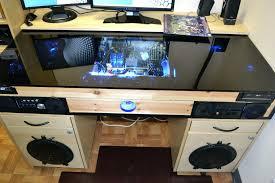 custom built computer desk picture of desk with built in custom built gaming desktop computers