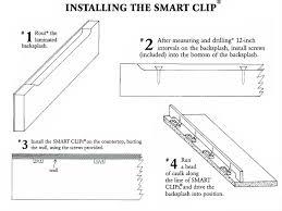 smart clips university plastics for laminate back splashes