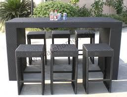 Patio Furniture Bar Height Outdoor Furniture Bar Table Home Furnishings