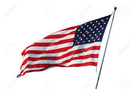 A American Flag Pictures An American Flag Flying In The Breeze Isolated On White