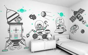 kids wall decals smart choose for your home design image space monkey kids wall decals vector art
