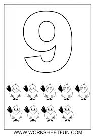 number coloring page pages printable color sheets for preschool