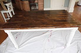 Redo Old Kitchen Table Refinish Dining Room Table Before And - Old kitchen table