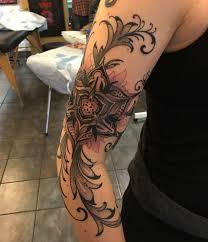 leg flower tattoos 43 incredible ladybug and flower tattoos