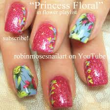 vintage rose nail art design tutorial antique nails with glitter