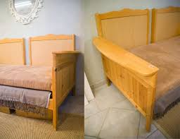 sofa that turns into a bed remodelaholic upcycled crib into couch