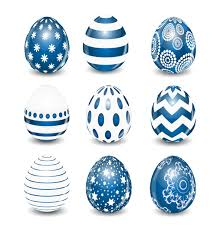 blue easter eggs blue styles easter egg vectors vector free