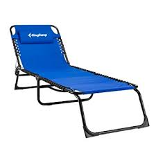 Blue Chaise Lounge Amazon Com Kingcamp 3 Positions Camping Cot Patio Foldable