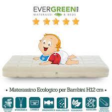 materasso bambino evergreenweb materasso bambino anallergico e sfoderabile 60x120