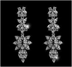 Cubic Zirconia Chandelier Earrings Marlene Marquise Cluster Chandelier Earrings 8ct Cubic