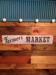 shabby chic farmers market sign wood sign white and black vinta