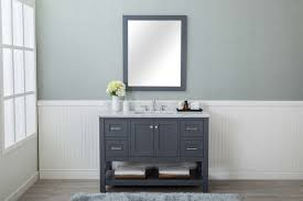 4 Bathroom Vanity Grey Shaker 48 Bathroom Vanity 4 Drawers 1 Sink Open Shelf W