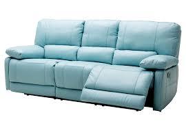 kuka maui light blue power reclining sofa and reclining console