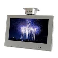 tv pour cuisine visua 10 2 flip cuisine tv lcd avec tnt argent téléviseur
