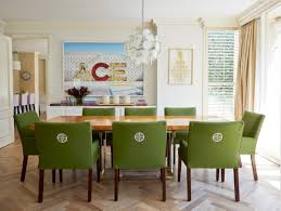 beautiful upholstered chairs to renew dining room atmosphere