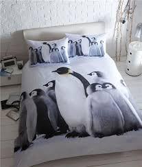 Winter Duvet King Size Winter Arctic Baby Penguin Photo Bedding King Size Bed Duvet Set