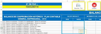 balance de comprobacion sunat macro excel para el pdt 0706 balance de comprobación y casillas