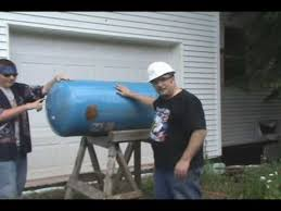 making an outdoor wood furnace with bob part 1 youtube