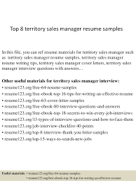 Sales Manager Resume Example by Top 8 Territory Sales Manager Resume Samples 1 638 Jpg Cb U003d1428492506