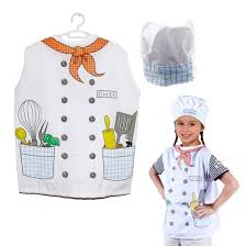 chef costume kids pretend play chef costume set vest and hat dazzling toys