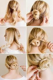 Hochsteckfrisurenen Schnell Und Einfach Selbst Gemacht by Einfache Anleitungen Für Steckfrisuren Mit Schulterlangem Haar