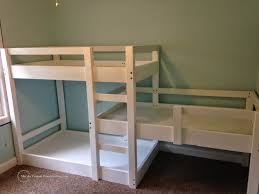 One Person Bunk Bed 3 Person Bunk Bed White Bed