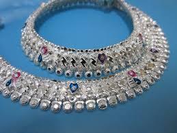 designer silver anklets in sant kabir road rajkot exporter and