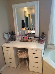 Bedroom Makeup Vanity With Lights Makeup Vanity Table Furniture Set In White Color With Lighting And