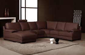 Brown Leather Sectional Sofa by Mediteran Brown Leather Sofa Set Combined With Brown High Gloss