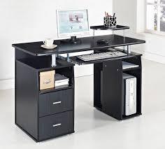 Wooden Computer Desk Designs by Black Computer Desk Table Furniture For Cool Black White Home