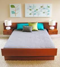 bedroom modern single bed frame mid century modern king size bed