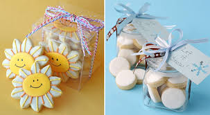 cookie box favors above smiling cookies in a box from garnish and