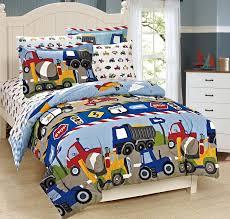 Truck Bedding Sets Boys Comforter Set Mk Collection 7 Pc Size Blue