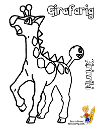 pokemon girafarig coloring pages images pokemon images