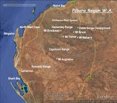 Australian Outback Map Bushwalking In Western Australia By Map And Compass