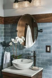 bathroom light blue design trends mirror bathroom decor rustic