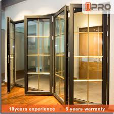Cheap Bi Fold Patio Doors by Price China Door Frame Exterior Aluminium Tempered Glass Bifold