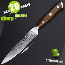 luxury kitchen knives 5 inch damascus utility knife fruit paring knife sharp luxury
