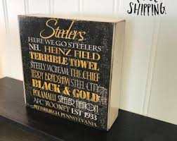 gifts for steelers fans steelers wood sign etsy