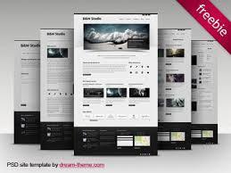 website design free b w studio free psd site template by theme dribbble