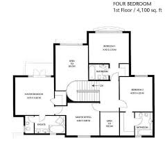 Four Bedroom Floor Plan by Four Bedroom Townhomes