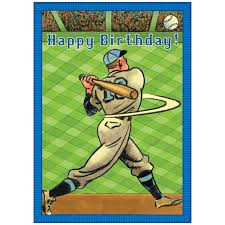 eeboo baseball home run birthday card