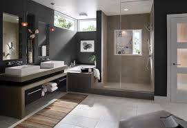 Small Bathroom Rugs Glass Shower Room Beside Corner Bathtub And Brown Veneered Plywood