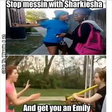 Sharkeisha Meme - shovel girl wants to square up with sharkeisha