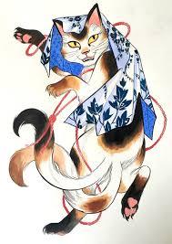 nekomata cat pinterest cat tattoo and japanese